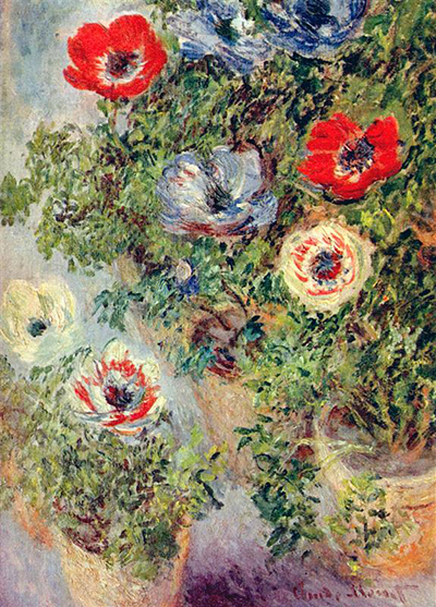 Still Life with Anemones Claude Monet