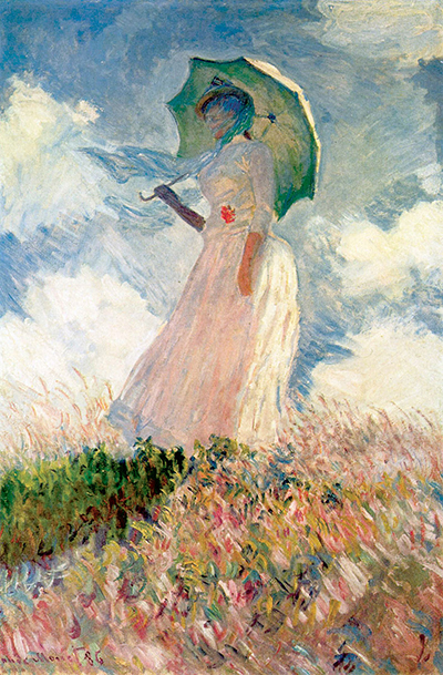Study of a Figure Outdoors Woman with a Parasol Claude Monet
