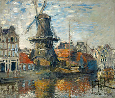 The Windmill, Amsterdam Claude Monet