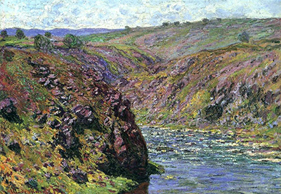 Valley of the Creuse Sunlight Effect Claude Monet