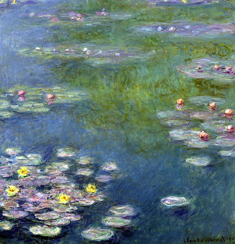 Water lilies by claude monet for Local pond supplies